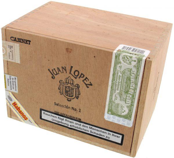 Xì gà Juan Lopez Seleccion No. 2 hộp gỗ 25 điếu