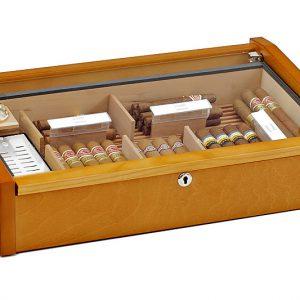 Hộp bảo quản Cigar Adorini Vega vàng