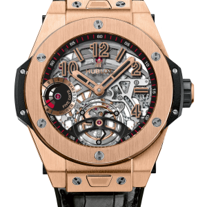 Big Bang Tourbillion Power Reserve 5 Days Skeleton Dial 18k King Gold Men's Watch 45mm