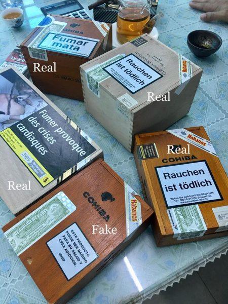 Bàn về vấn đề về cigar thật - giả 0