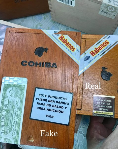 Bàn về vấn đề về cigar thật - giả 2