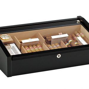 Hộp đựng xì gà Adorini Vega màu đen