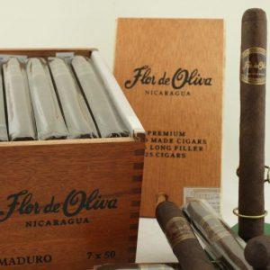 Cigar Flor de Oliva Robusto Natural hộp gỗ